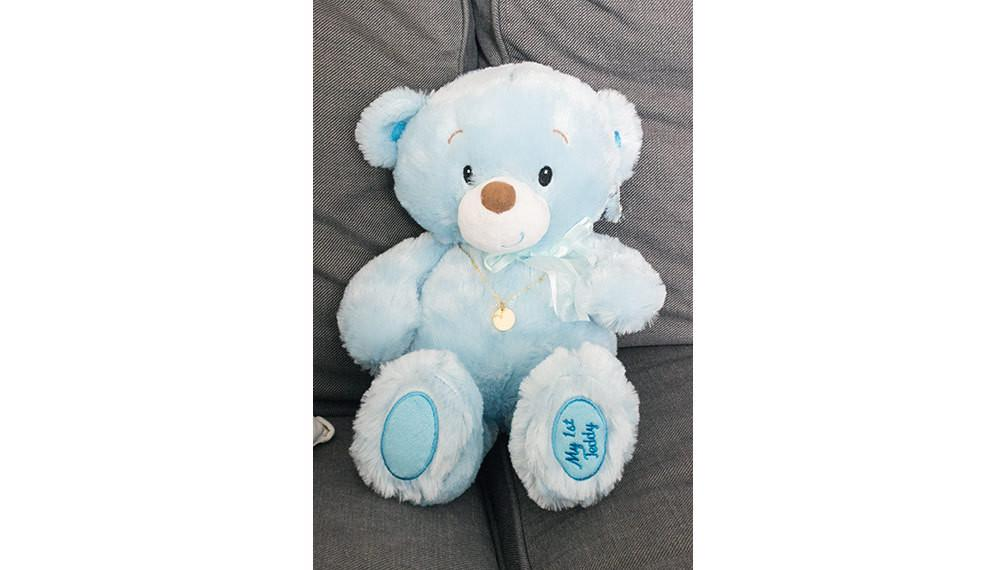 Blue Teddy Bear Birth Gifts, Baby Plush, Baby Gifts, Christmas Beautiz