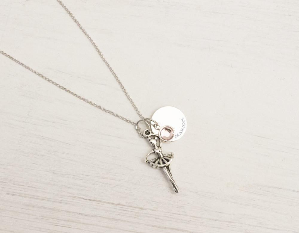Personalized Ballerina Necklace, Charm Kids fashion Little Gir Beautiz
