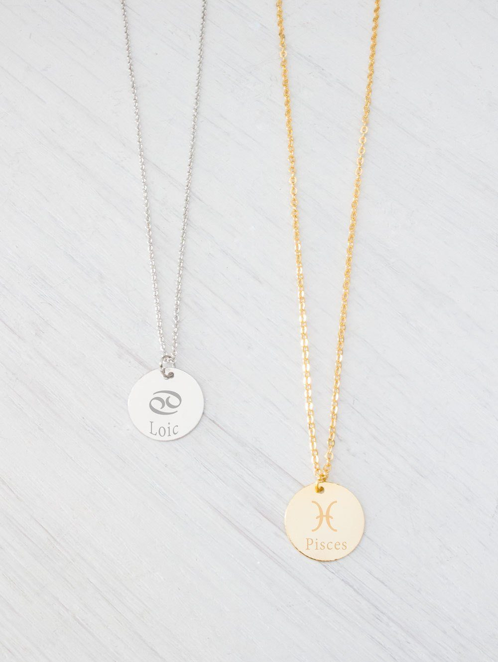 Personalized Engraved Zodiac Signs Constellation Necklace - product_type] - Beautiz