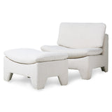 Retro lounge ottoman - cream