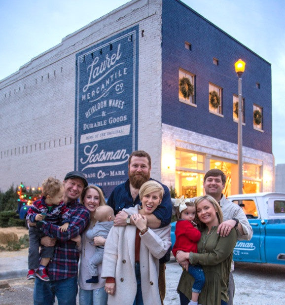 Laurel Mercantile family in front of their shop in Laurel, Mississippi