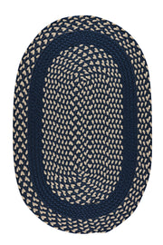LMCo. Home Navy Classic Poly Braid Rug