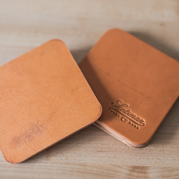 Scotsman Leather Coasters