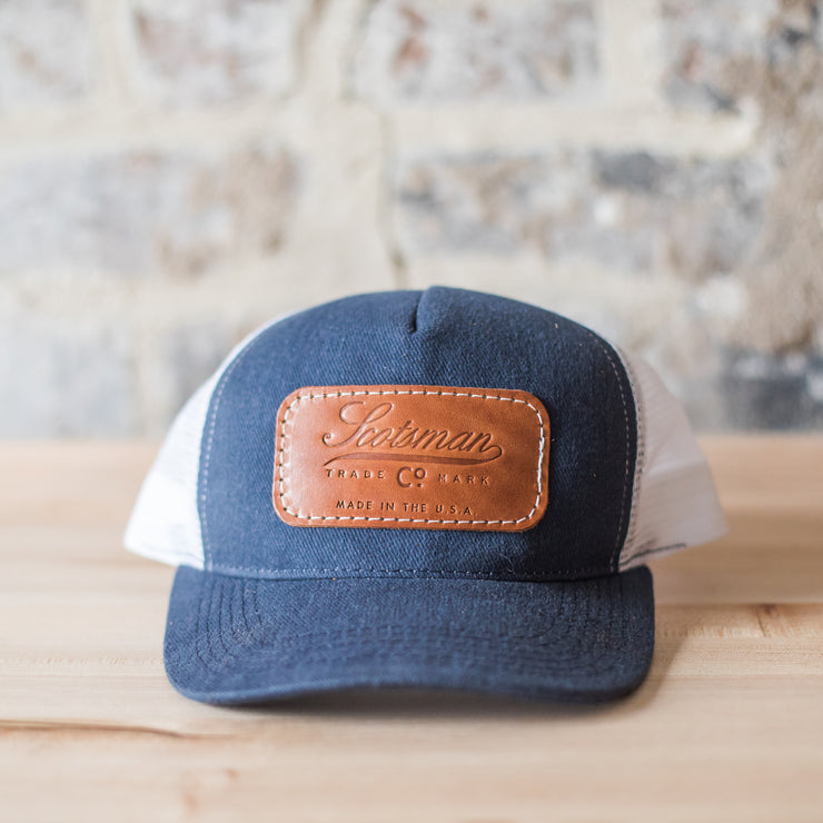 Scotsman Leather Patch Cap