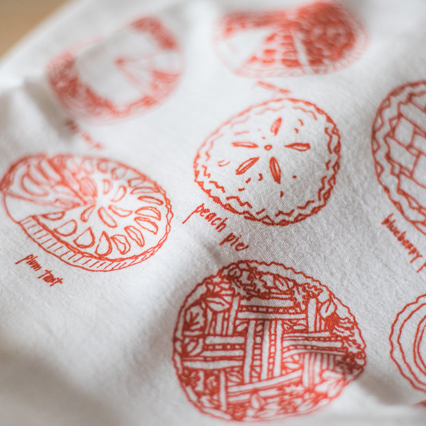 Holiday Pies Tea Towel