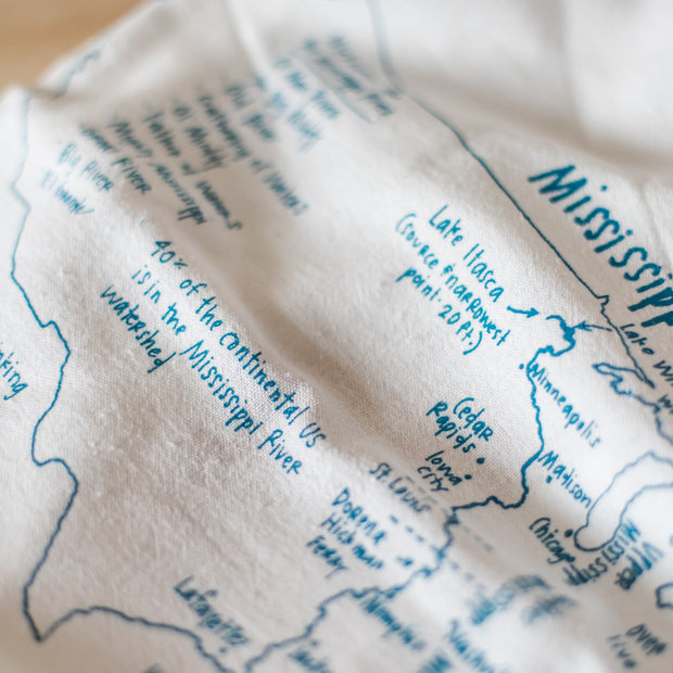 Mississippi River Tea Towel