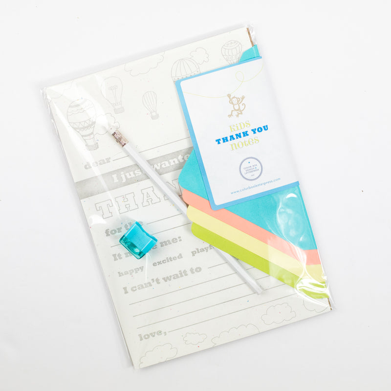 Kid Thank You Notes Writing Kit