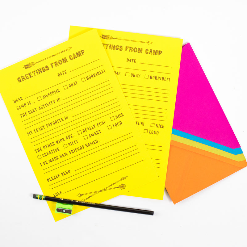Camp Letter Writing Kit