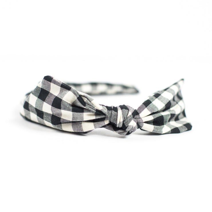 Brooke's Gingham Bow Headband