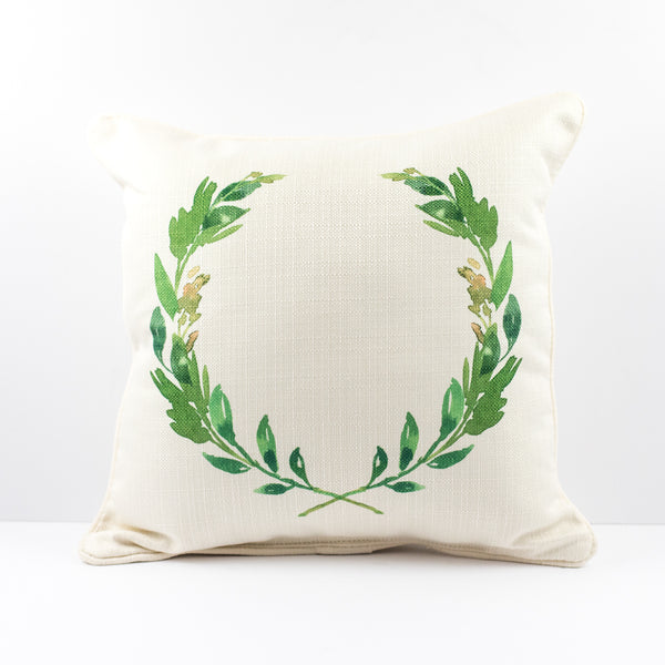 Green Wreath Pillow