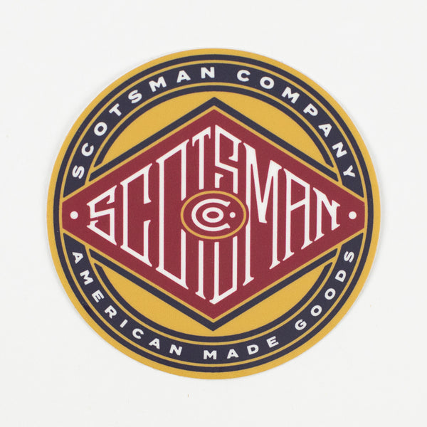 Scotsman Circle Diamond Die Cut Decal