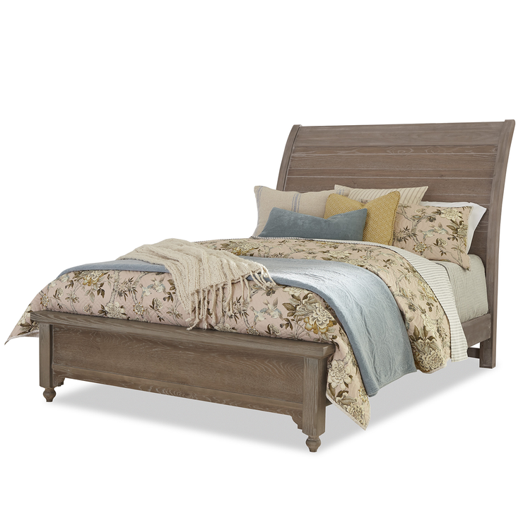 LMCo. Home Collection Rogers Sleigh Bed with Low Profile Footboard