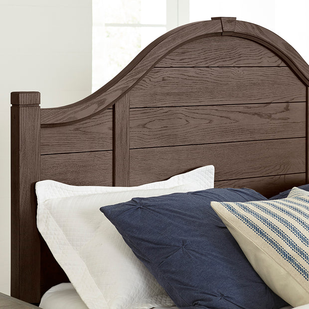 LMCo. Bungalow Collection Arch Bed with Low Profile Footboard - King and Queen