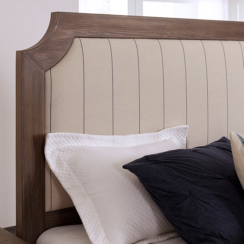 LMCo. Bungalow Collection Upholstered Bed with Storage Footboard - King and Queen