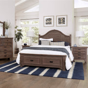 LMCo. Bungalow Collection Arch Bed with Storage Footboard - King and Queen