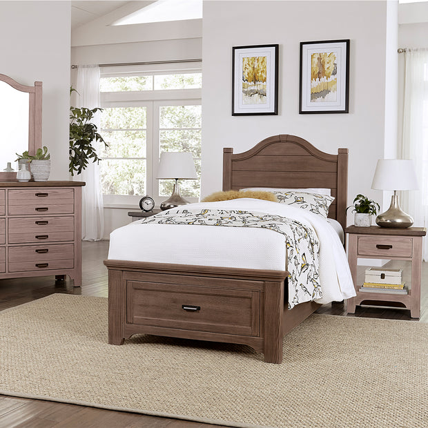 LMCo. Bungalow Collection Arch Bed with Storage Footboard - Twin and Full