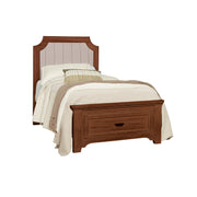 LMCo. Bungalow Collection Upholstered Bed with Storage Footboard - Twin and Full