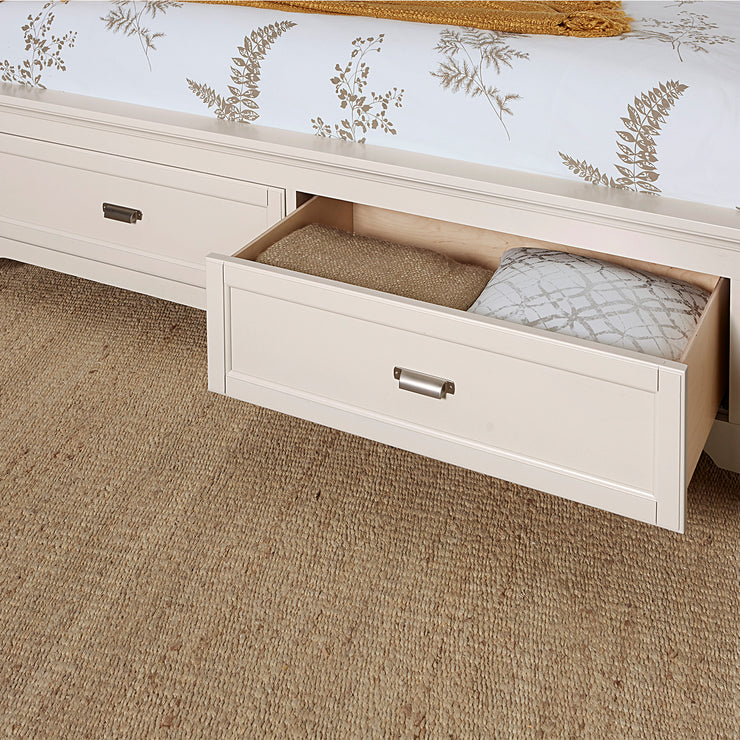 LMCo. Bungalow Collection Panel Bed with Storage Footboard - King and Queen
