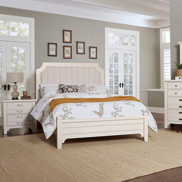 LMCo. Bungalow Collection Upholstered Bed with Low Profile Footboard - King and Queen