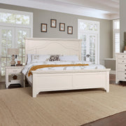 LMCo. Bungalow Collection Mantel Bed with Mantel Footboard - King and Queen