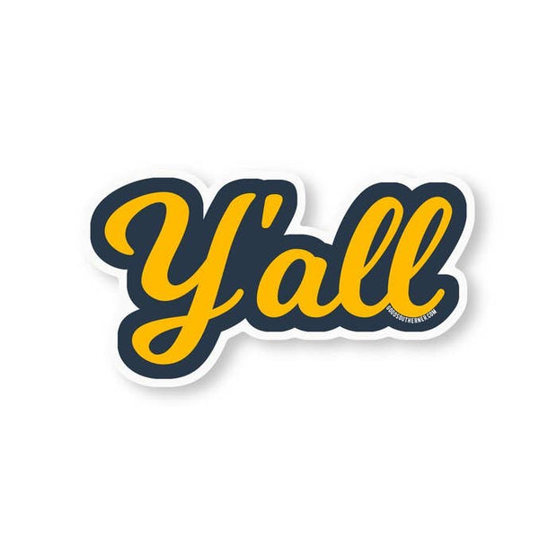 Y'all Vinyl Sticker