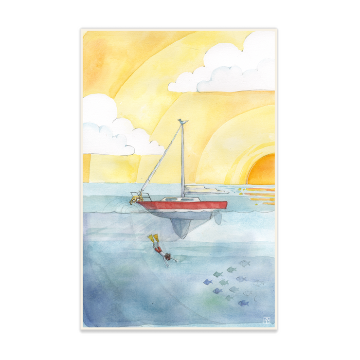 Adam Trest Adventure Sailing Print