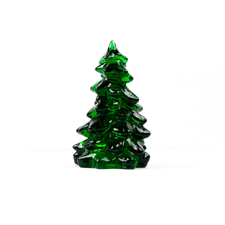 Hunter Green Glass Christmas Tree