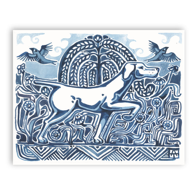 Adam Trest Bird Dog in Blue Print