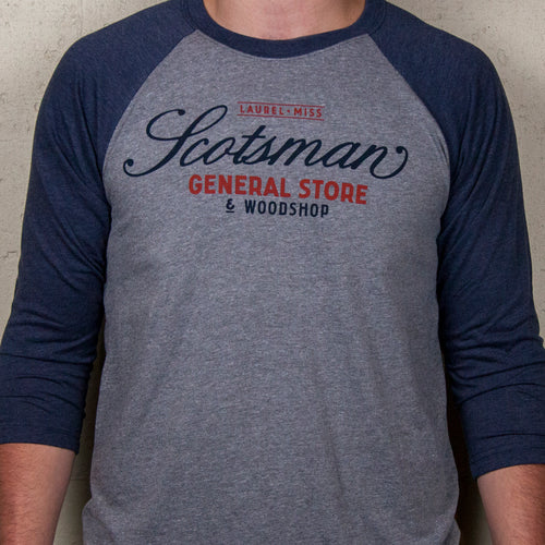 Scotsman General Store Official Logo Baseball T-Shirt