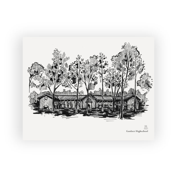 Adam Trest Laurel Landmarks | Gardiner High School Print