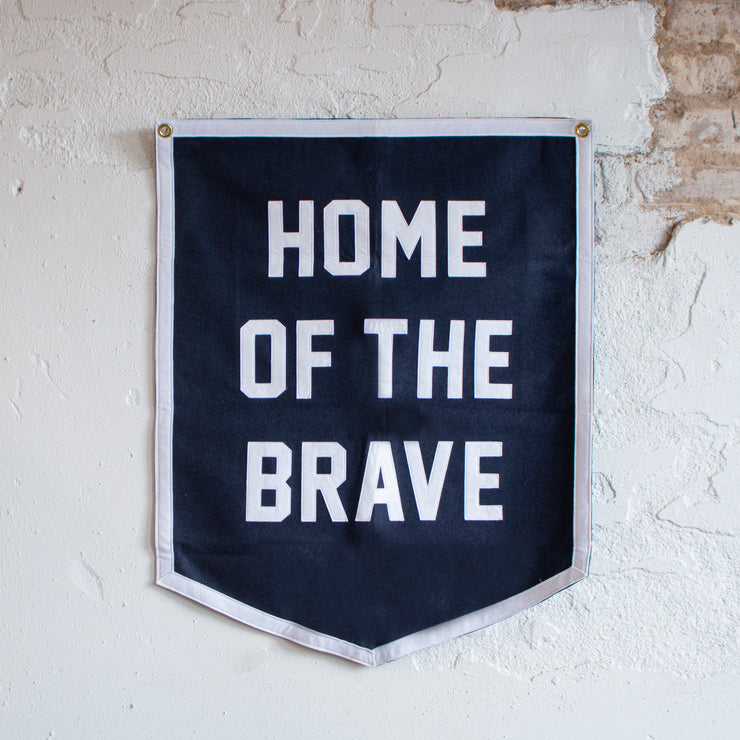 Home of the Brave Camp Flag