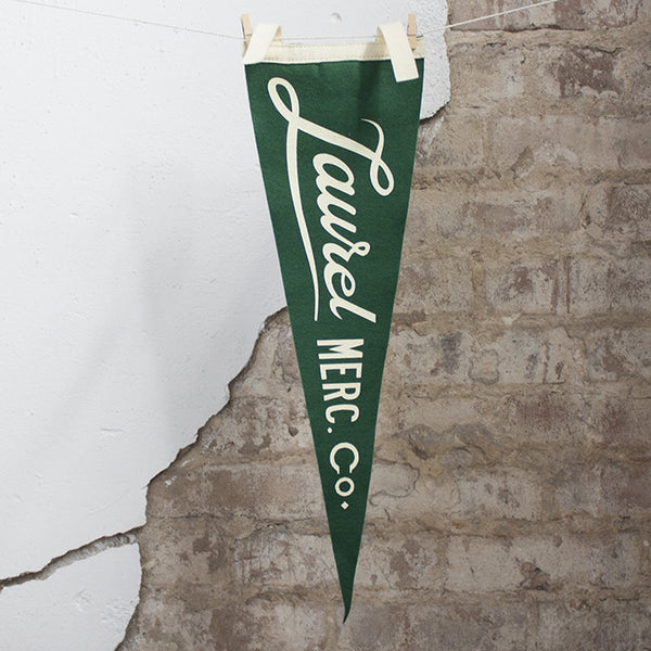 Laurel Mercantile Co. Pennant
