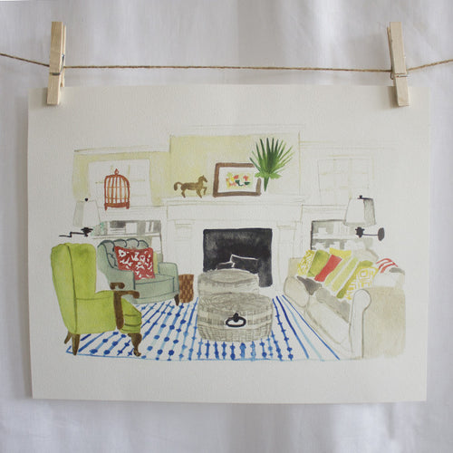 Living Room Watercolor (14