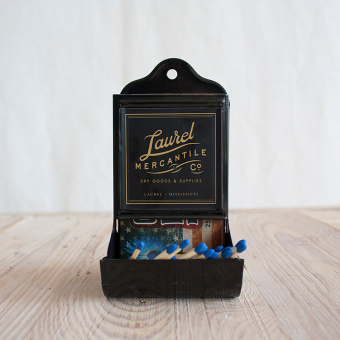 Enameled Matchbox Holder