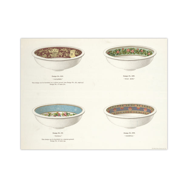 China Pattern Bowls Poster