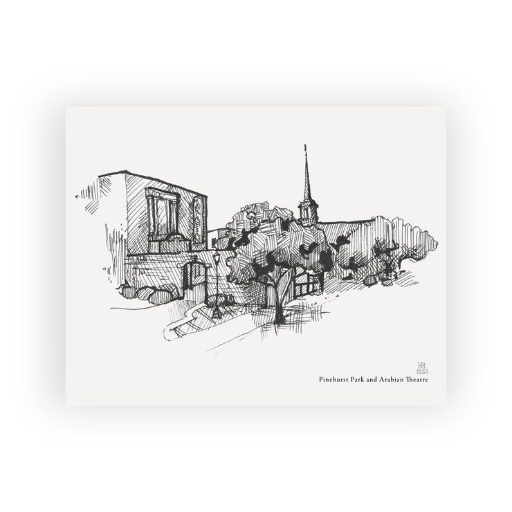 Adam Trest Laurel Landmarks | Pinehurst Park and Arabian Theatre Print