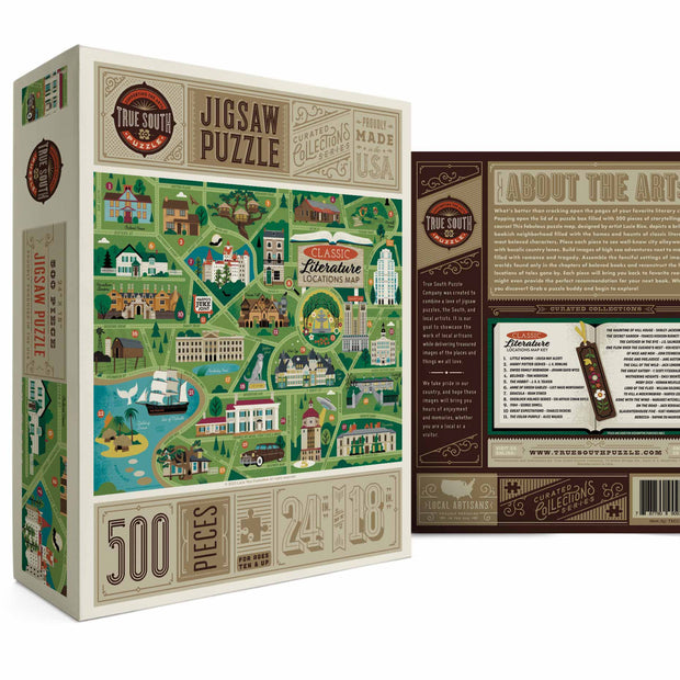 True South Literary Classics Map Puzzle