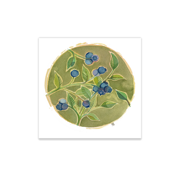 Adam Trest Tiny Art | Blueberries Print