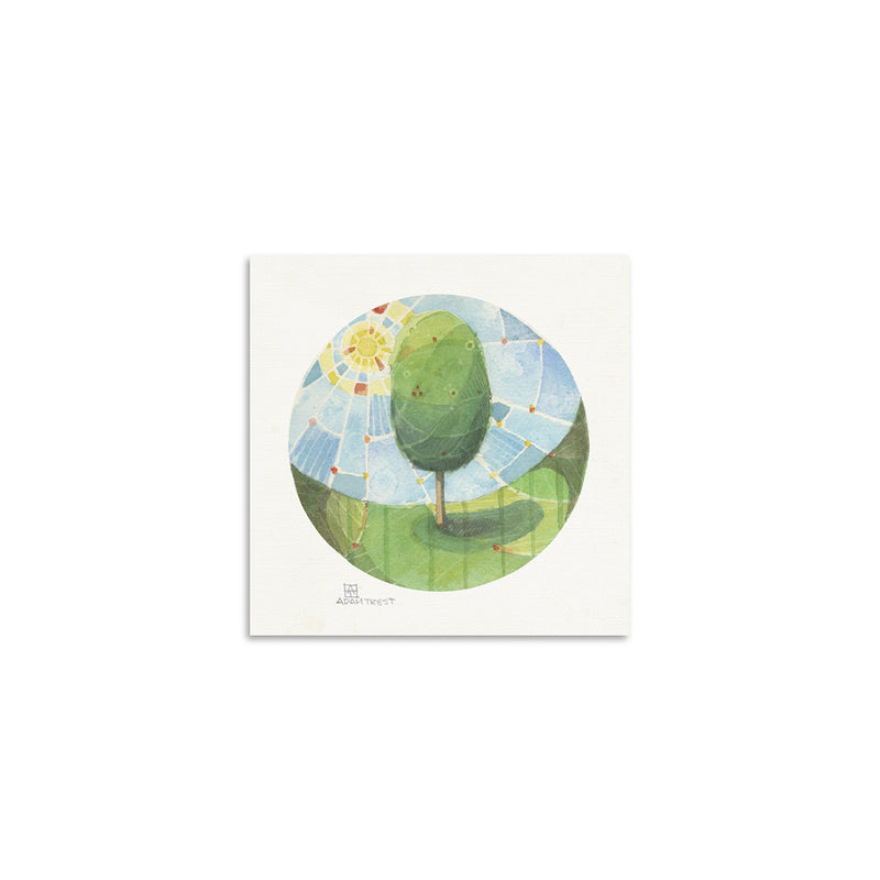 Adam Trest Tiny Art Day Tree Print