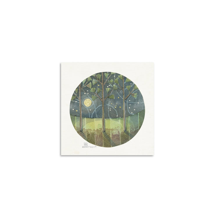 Adam Trest Tiny Art | Night Pine Print