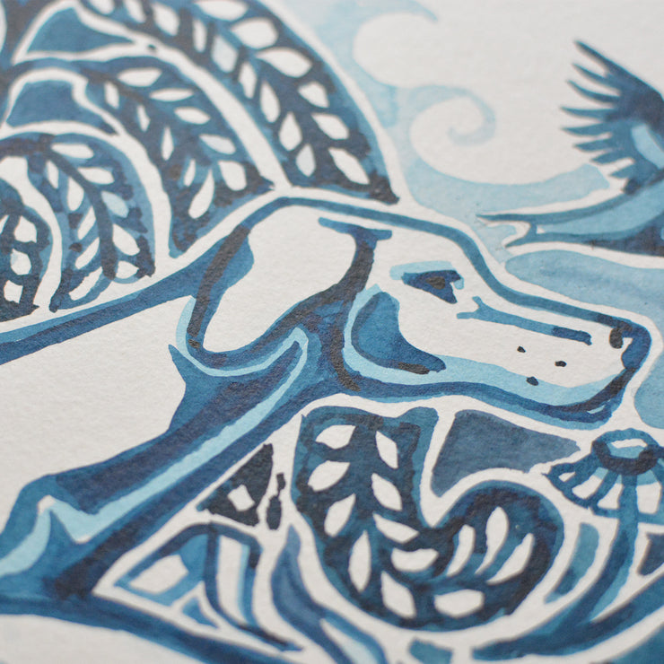 Adam Trest Blue Willow | Bird Dog Print