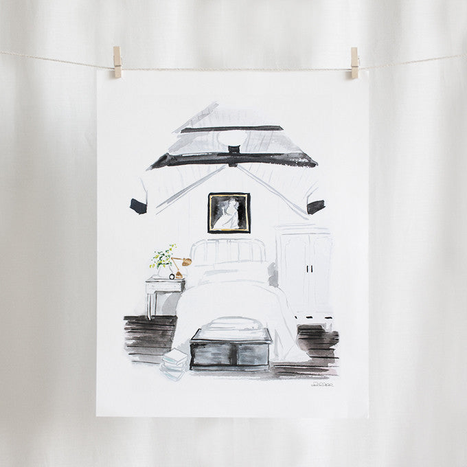 "Bedroom Watercolor (11"" X 14"")"