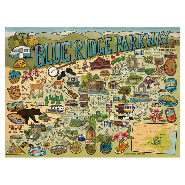 True South Blue Ridge Parkway Puzzle
