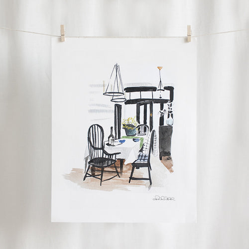 Dining Room Watercolor (11