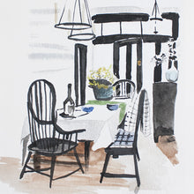 "Dining Room Watercolor (11"" X 14"")"