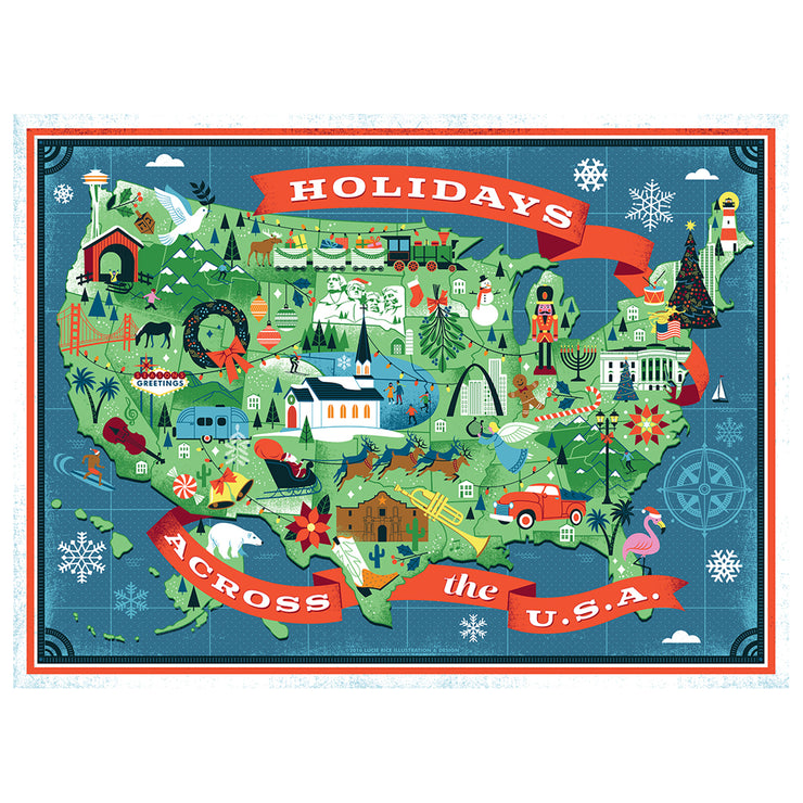 True South Holidays Across America Puzzle