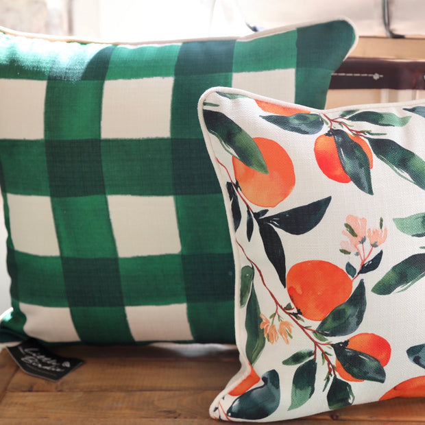 Emerald Buffalo Check Pillow