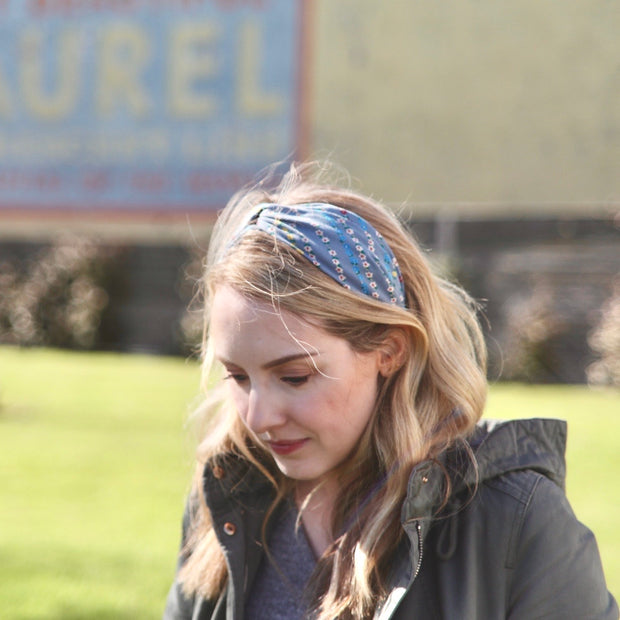 Lucy's Stripe Floral Headband