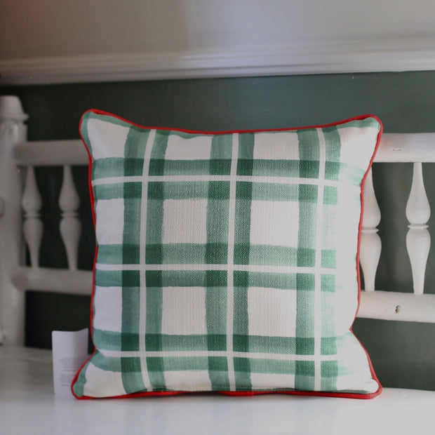 Holiday Plaid Pillow