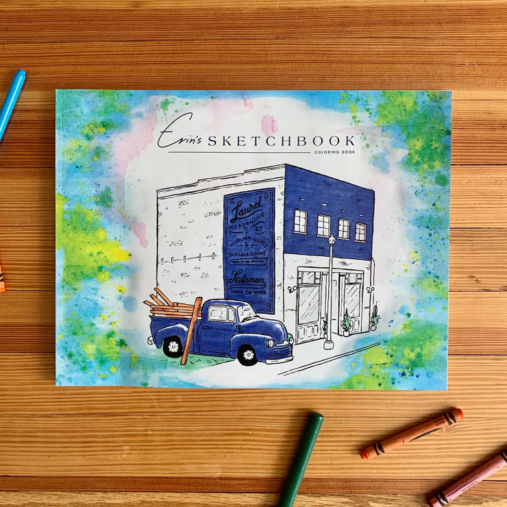 Erin's Sketchbook Coloring Book